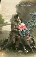 029 905 - CPA - Thème - Couple - Romantique - Romance - Amour - Militaire - Couples