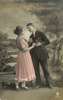 029 910 - CPA - Thème - Couple - Romantique - Romance - Amour - Couples