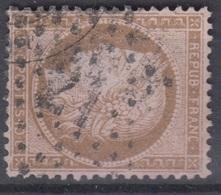FRANCE : CERES 10c BRUN S/ ROSE N° 58 OBLITERATION ETOILE DE PARIS N° 21 - 1871-1875 Ceres