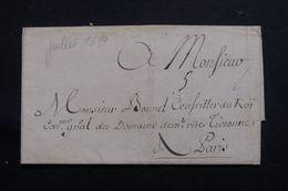 FRANCE - Lettre Pour Le Conseiller Du Roi En 1699 - L 64913 - Marcophilie (Lettres)