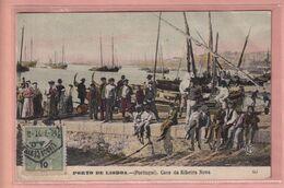 OLD POSTCARD -  PORTUGAL - LISBOA - CAES DA RIBEIRA NOVA - Lisboa