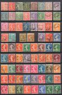"""SEMEUSE""  LIGNEES ET FOND PLEIN OBLITEREES  QUASI COMPLET TB COTE > 130 € - Used Stamps"