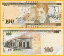 Honduras 100 Lempiras  P-102 2016 UNC Banknote - Honduras