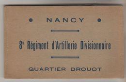 CARNET 13 CPSM MILITAIRE NANCY (Meurthe Et Moselle) - 8° Régiment D'Artillerie Divisionnaire Quartier Drouot - Nancy
