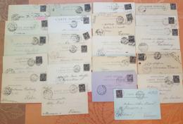 France - Lot  Type Sage Sur Carte Postale -  DEPART 1 EURO - TOUS AU NUMERO YVERT 103 - N Sous B -  22 Piéces - Postal Stamped Stationery