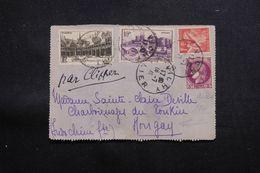 FRANCE - Carte Lettre De Vichy Pour Mongay ( Indochine ) En 1941 Par Clipper - L 64917 - Postmark Collection (Covers)