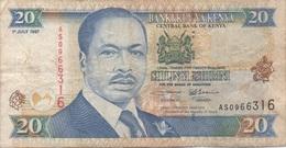 Kenya : 20 Shilingi 1997 Mauvais état - Kenya