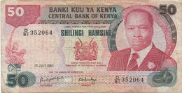 Kenya : 50 Shilingi 1987 Avion & Aéroport Au Verso : Mauvais état - Kenya