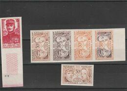 """1956- Non Dentelé - 5 Exemplaires  N° 1060 + 1 Exemplaire  N° 1064  - Etat """"luxe"""" - Essais"""