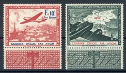 Frankreich WKII Spendenvignetten Franz. Legion MiNr. II-III Postfrisch MNH (Q875 - Besetzungen 1938-45