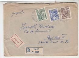 Yugoslavia Letter Cover Registered Express Posted B200720 - 1945-1992 Sozialistische Föderative Republik Jugoslawien