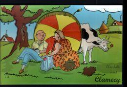 58, Clamecy, Carte A Systeme, Sans Les Photos ( Confectionnement Interrompu ), Vache - Clamecy
