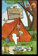 58, Clamecy, Carte A Systeme, Sans Les Photos ( Confectionnement Interrompu ), Camping, Feu Lezard - Clamecy