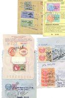 ENSEMBLE - Taxe Piscicole - AFFAIRES ETRANGERES Sur 11 Documents  EXTRAITS PASSEPORTS Et PERMIS INTERNATIONAL - Revenue Stamps