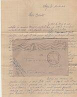 LAC FM AVION BASE MILITAIRE N° 320 ALGER 15/5/1945 POUR TOURNISSAN AUDE TRES BELLE LETTRE D UN MILITAIRE A SES PARENTS - Wars