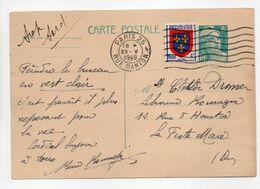- CARTE POSTALE PARIS Pour LA FERTÉ-MACÉ 23.5.1949 - Bel Affranchissement Philatélique - A ETUDIER - - Entiers Postaux