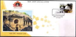 BUDDHIST CAVES IN INDIA-3rd CENTURY BC-SP COVER-SCARCE-LIMITED ISSUE-2016- INDIA-IC-292 - Buddhismus