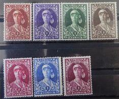 BELGIE  1931    Nr. 326 - 332    Spoor Van Scharnier *    CW  82,50 - Nuovi