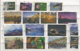USA National Parks Cpl 16v Set Used - Used Stamps