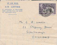 TRINIDAD & TOBAGO 1947 GEORGE VI AIR LETTER - Trinité & Tobago (...-1961)