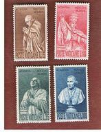 VATICANO (VATICAN) -  UNIF. 243.246  -  1958 BICENTENARIO A. CANOVA, SCULTORE  (SERIE COMPLETA DI 4)   -  MINT** - Nuovi