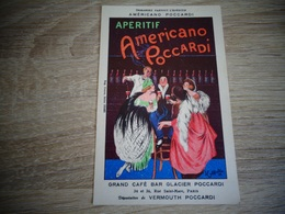 """Apéritif AMERICANO POCCARDI """" Illustrateur CAPPIELLO - CPA Publicitaire Ancienne - Pub Publicité Café Paris - Cappiello"""