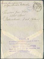 Enveloppe Expédiée En Franchise (sc)Postes Militaires Belgique 7-I-17vers La Hollande à Destination D'un Militaire Int - Guerra 14 – 18