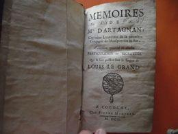 LES MÉMOIRES De D'ARTAGNAN,  1700, 2 Tomes , Livres Rares - Boeken, Tijdschriften, Stripverhalen