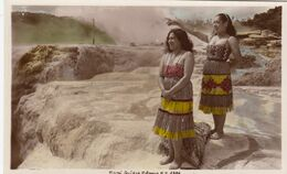 RP: Maori Girl Guides , Rotorua , New Zealand , 1930s - Neuseeland