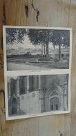 Carte Double : CASTELNAUDARY : Vue Generale Et Deux Portails De L'église  .... …... … OR-37 - Castelnaudary