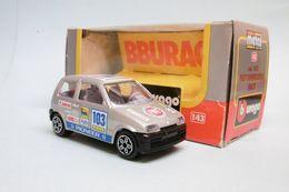 Bburago - FIAT CINQUECENTO 500 Rallye Gris Métallisé Réf. 4138 Burago BO 1/43 - Burago