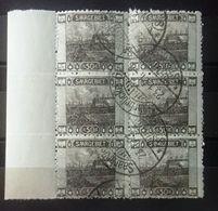Sarre, Bord De Feuille, Bloc De 6 Timbres Oblitérés, Numéro 59, Cote 28,50 Euros - Collections (without Album)
