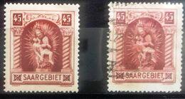 Sarre, Numéro 101 Neuf * * Et Oblitéré, Cote 15 Euros - 1920-35 Société Des Nations