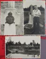 Spa Fagne Fagnes De Bérinzen Croix Monument RAF Chute Avion De Guerre (à La Vecquée) 1961 (3 Photos Cartes) - Krieg, Militär