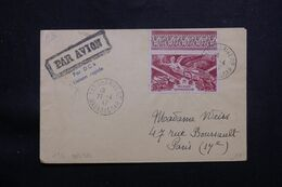 """MADAGASCAR - Enveloppe Par DC4 """" Liaison Rapide """" De Tananarive En 1947 Pour Paris, Affranchissement Victoire  - L 64954 - Madagascar (1889-1960)"""