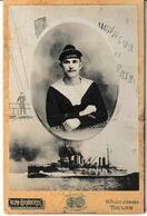 Marine Photo Originale D'un Marin Embarqué Sur Le Voltaire Photo Alphonse Leenaerts Toulon - Guerra, Militares