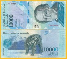 Venezuela 10000 (10,000) Bolivares P-98b 2017 REPLACEMENT UNC Banknote - Venezuela