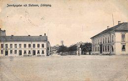 LIDKOPING SWEDEN~JERAVAGSGATAN Och STATIONEN~1907 PHOTO POSTCARD 47715 - Sweden