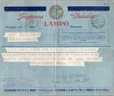 TELEGRAMMA LAMPO VIA ITALCABLE - Italia
