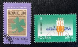 Polska - Poland - P1/15 - (°)used - 1965 - Boerenbeweging - Michel Nr.1585#1586 - Used Stamps