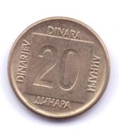 YUGOSLAVIA 1989: 20 Dinara, KM 132 - Yugoslavia