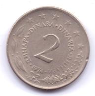 YUGOSLAVIA 1974: 2 Dinara, KM 57 - Yugoslavia