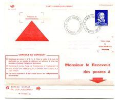 Palissy Sur Lettre Cad Centre Régional D'instruction Strasbourg - Sur Carte De Remboursement 2 Volets - R 5943 - Instructional Courses