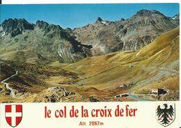 LE COL DE LA CROIX DE FER    ( SAVOIE )    VUE AÉRIENNE  ET LES ROCHERS DE L ' ARGENTIÈRE - Francia