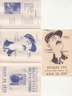 """jour De Fête"" TATI 1949 - Programmes"