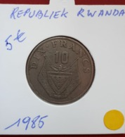10 Francs 1985 Republiek Rwanda - Rwanda