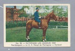 OLYMPIADE Los Angeles 1932. Paardensport - Lt. C.F. Pahud De Mortagnes - Holland. - Other