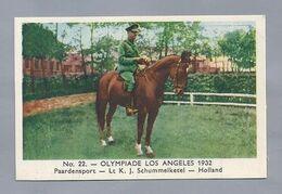 OLYMPIADE Los Angeles 1932. Paardensport - Lt. K.J. Schummelketel - Holland. - Other