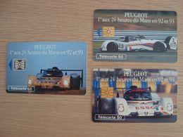 LOT DE 3 CARTES TELEPHONIQUES 24 HEURES DU MANS 1992 1993 - Cars