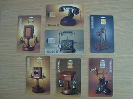 LOT DE 7 CARTES TELEPHONIQUES TELEPHONES ANCIENS - Telephones